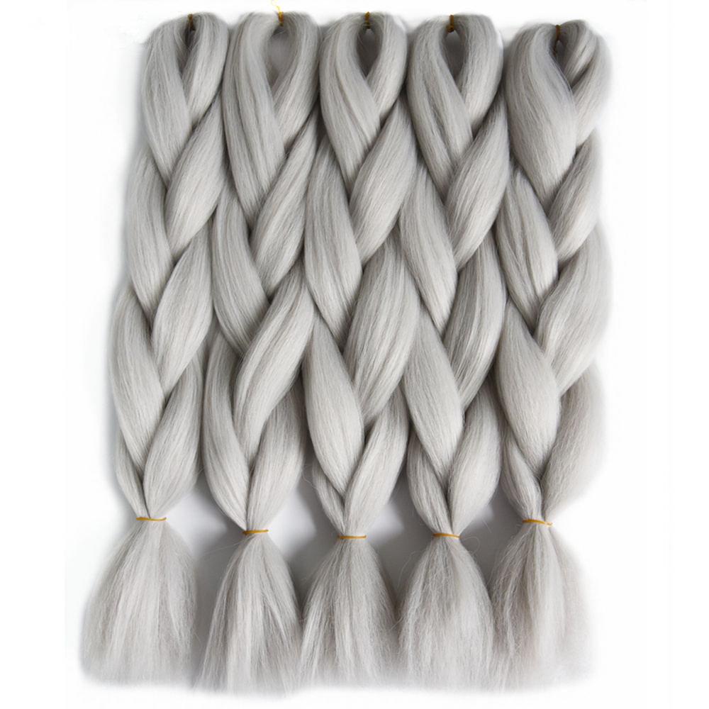 gray braiding  hair__