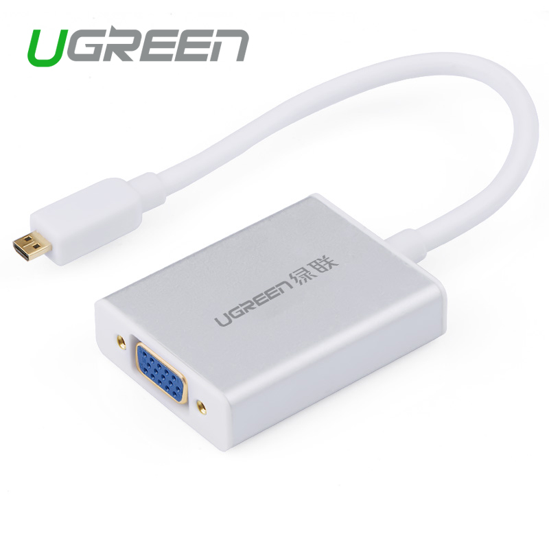 Ugreen Micro HDMI To VGA Cable Micro HDMI Male To VGA Adapter With 3 5mm Audio