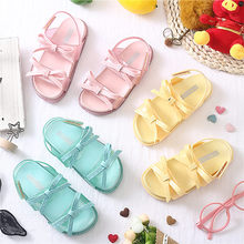 Mini Melissa 3 Color Bow Tie Cute Girls Jelly Sandals 2019 New Children Shoes Baby Comfortable Princess