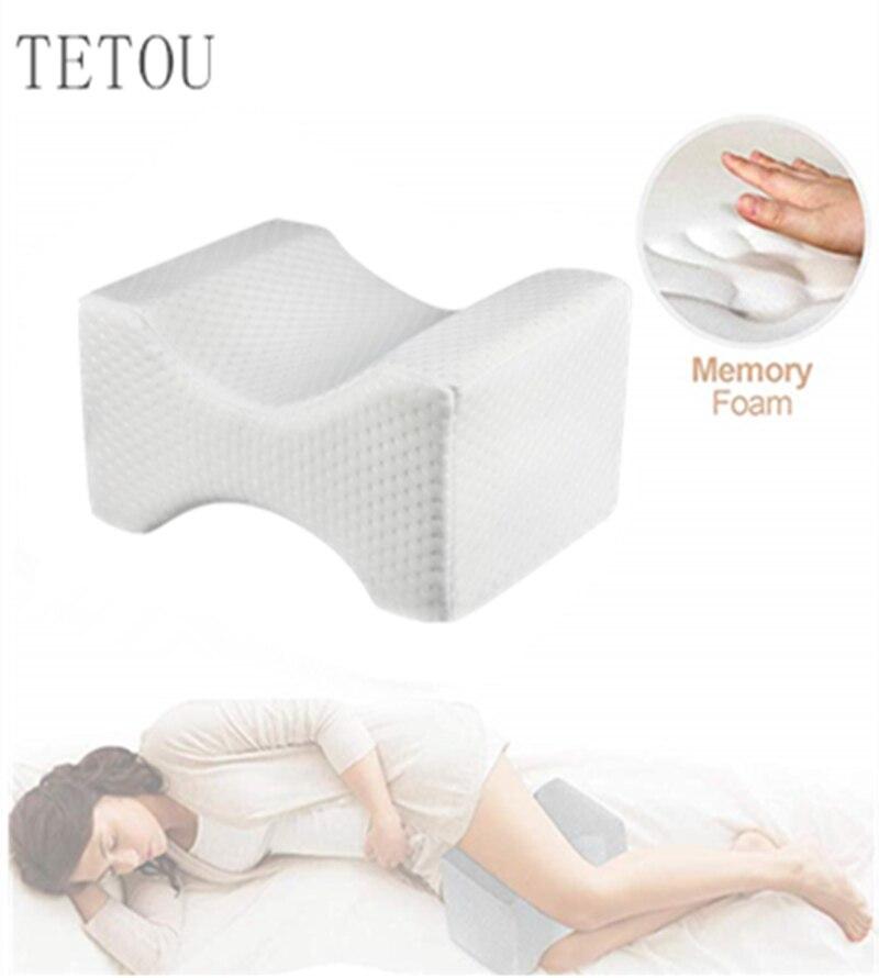 Memory Foam Knee Leg Pillow Wedge Contour Body Pillow Pad Pregnancy Pain Relief Sleeping Pillows For Women
