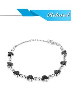 HTB1X8MTblCw3KVjSZFlq6AJkFXa4 JPalace Love Heart Genuine Black Spinel Stud Earrings 925 Sterling Silver Earrings For Women Korean Earings Fashion Jewelry 2019