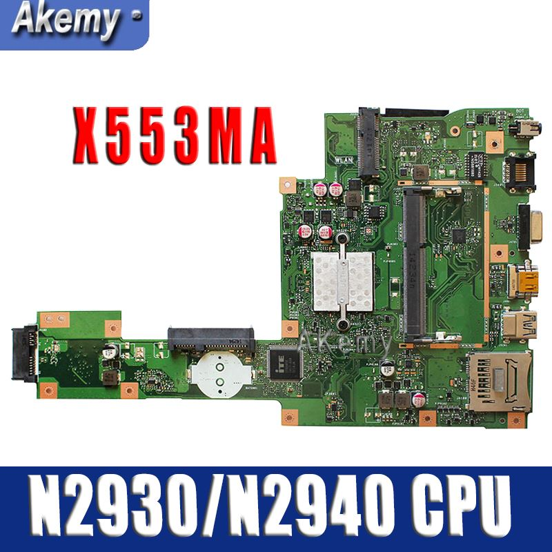 Amazoon  For ASUS A553M X503M F503M X553MA Laptop Motherboard N2930/N2940 CPU X553MA REV.2.0 Mainboard Test Good