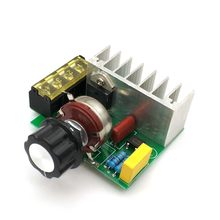 4000W 220V AC SCR regulador de tensión Mayitr ajustable Placa de alimentación de Control de velocidad Dimmer para cepillo de Motor eléctrico Motor de hierro