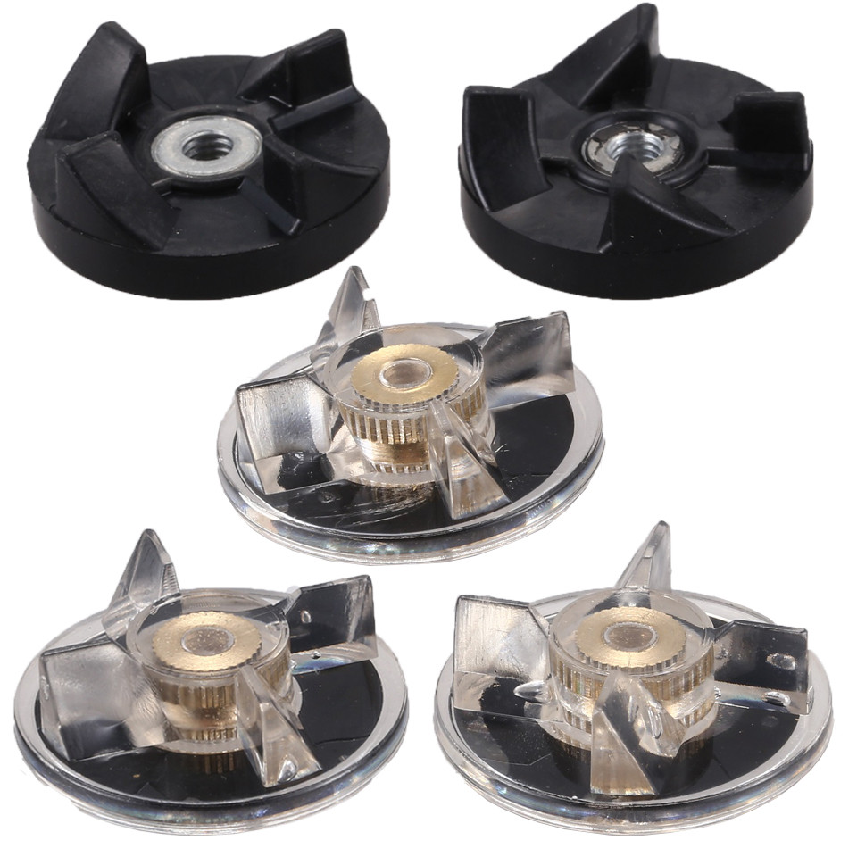5Pcs/Set New Durable Quality 3 Plastic Gear Base + 2 Rubber Gear For Magic Bullet Replacement Spare Parts Blender Parts