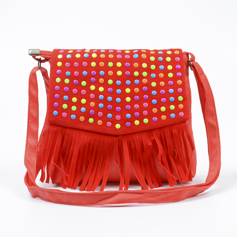 Children tassel handbags girls small shoulder bag kids messenger bags mini bag Coin Purses Toddler font