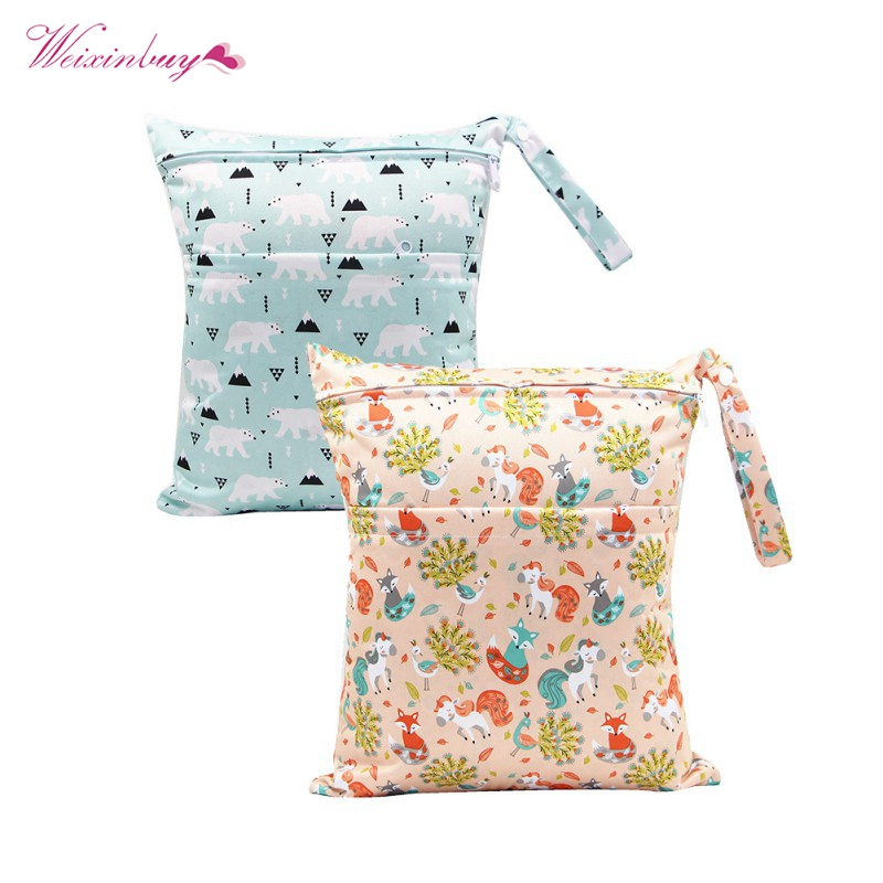 36*30CM Single Pocket Wet Bag Baby Cloth Diaper Bag Waterproof Reusable Nappy Bag Small Size Mummy Dry Bag