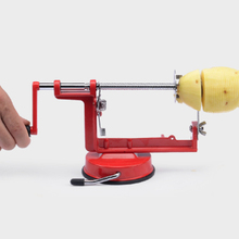 3 in 1 Apple Peeler Cutting Stainless Steel Fast Fruit Slicing Creative Home Kitchen Tool Remove Nucleus Double Headed Sucker