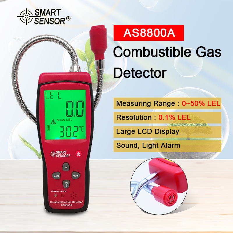 LCD Combustible gas detector 0 50 Natural Gas Coal Gas Methane Toxic Gas Tester Air Quality