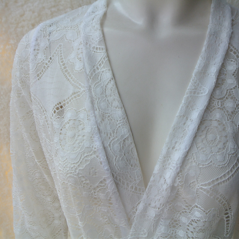 Lace-Short-Robe-Vintage-Chemise-Comfy-Pajamas-Bridal-Nightgown-Romantic-Nightdress-Floral-Kimono (3)