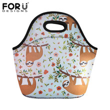 FORUDESIGNS Cute Sloth Printing Lunch Bags For Kid Thermal Insulated Box Food Picnic Casual Tote Handbag Dropshipping