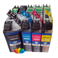 4x Brother LC227XL LC225XL Compatible Ink Cartridges for DCP-J4120DW MFC-J4420DW J4620DW J5320DW J4625DW J5620DW J5625DW