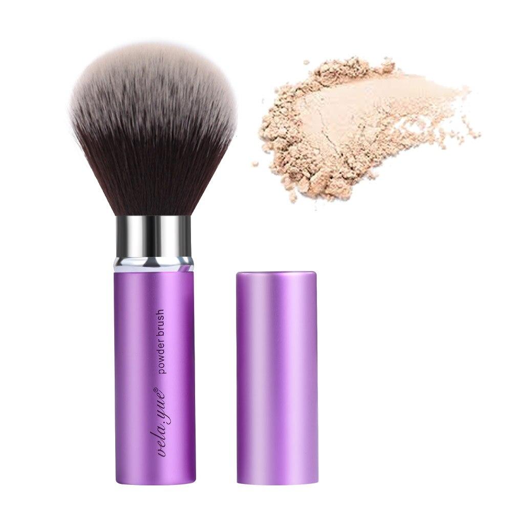vela. yue Kabuki Sikat Putaran Bedak Makeup Sikat Wajah Travel Mineral Bedak Blush Bronzer Alat Kecantikan
