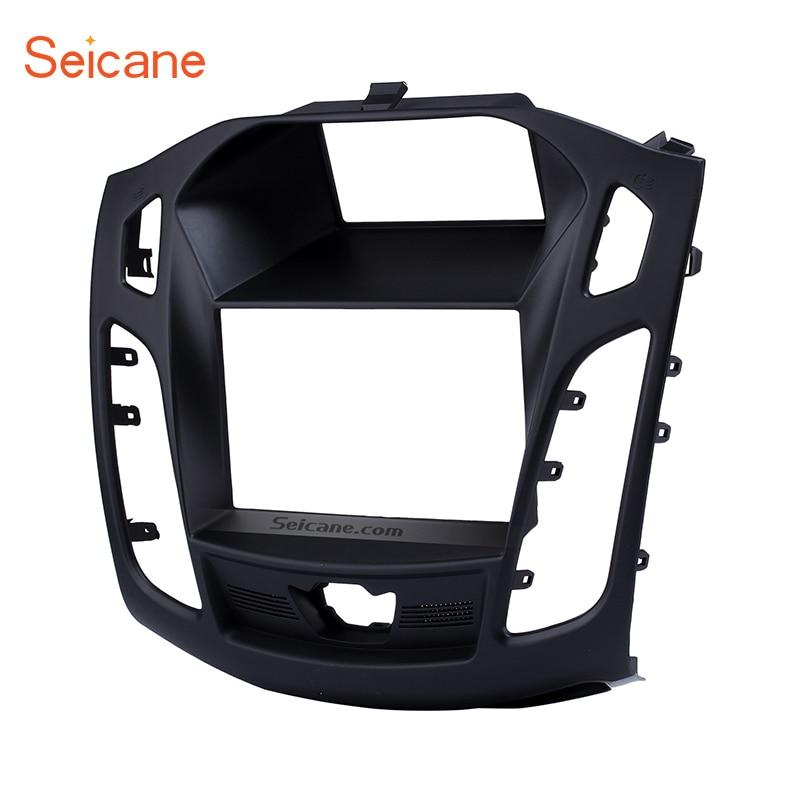 Seicane 173*98mm 2Din autoradio Fascia cadre Audio Installation kit d'outils pour habillage panneau plaque tableau de bord pour 2011 2012 2013 Ford Focus