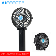 AIFFECT USB 18650 Battery Rechargeable Cooling Fan Ventilation Foldable Air Conditioning Cooler Mini