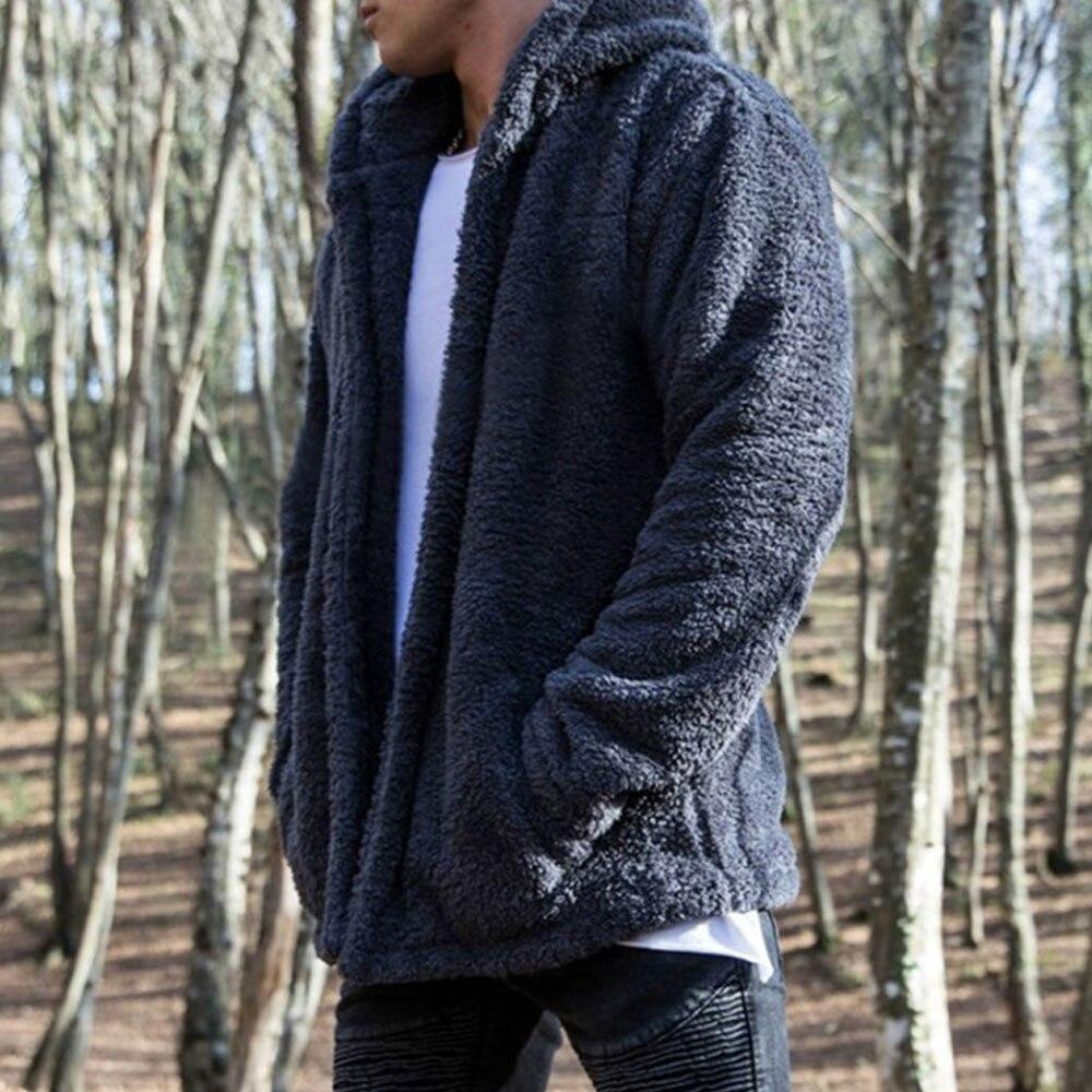 HTB1X8NgXJfvK1RjSspoq6zfNpXa7 Men Winter Warm Teddy Bear Long Sleeve Fleece Jackets Oversize Outwear Coats With Pockets