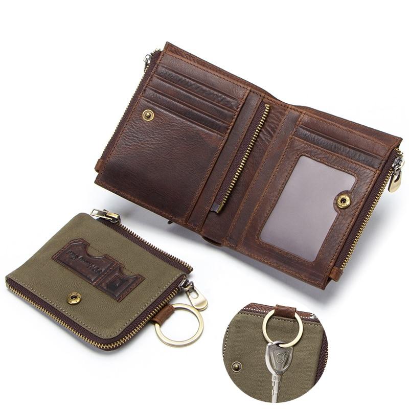CONTACT'S 100% cow leather men's wallet RFID male portmane short cuzdan mens card holders coin purse cartera hombre man's walet 3