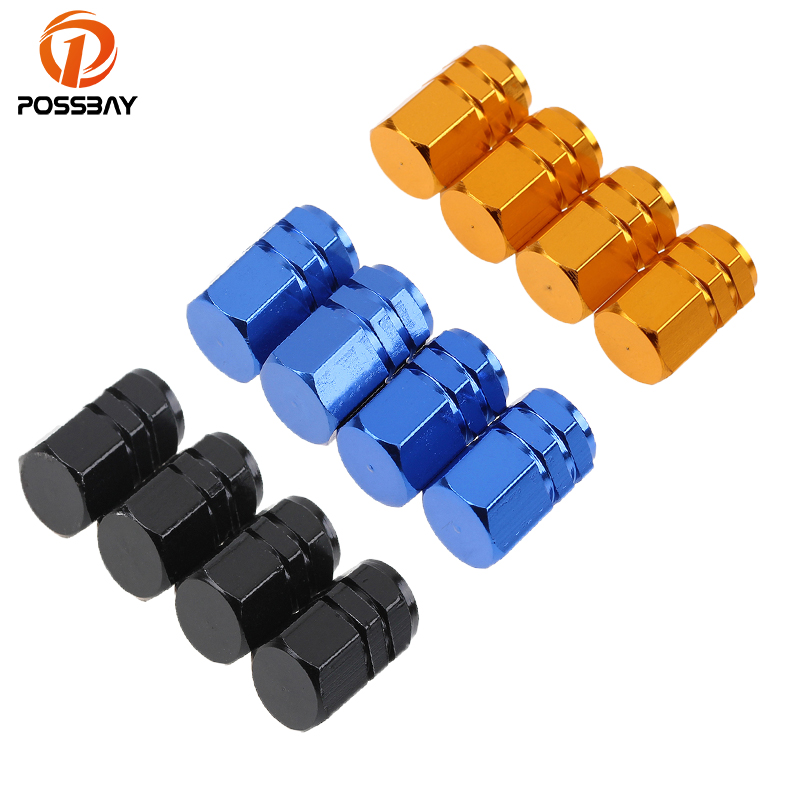 4x Sky blue Car Airtight Wheel Tyre Tire Air Valve Caps Stem Cover