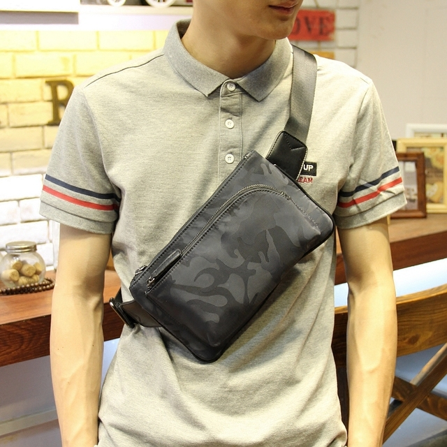 New men chest bag fashion man bag casual camouflage printing shoulder Messenger  bag Korean men s cross body bag small satchel 79864e4eb9