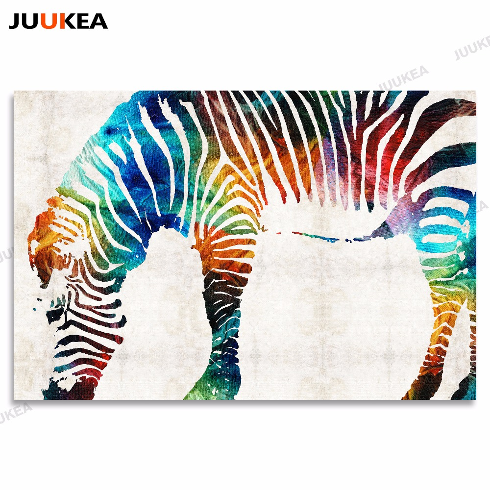Posters schilderijen prints op canvas aquarel full colour dier zebra posters schilderijen prints op canvas aquarel full colour dier zebra muur pictures voor woonkamer kinderkamer home decor in posters schilderijen prints op altavistaventures Gallery