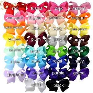 Image 2 - 30pcs/lot 4 Grosgrain Ribbon Hair Bows Hair Clips For Girls 2020 Solid Hairpins Hair Bow Women Headwear Kids Hair Accessories