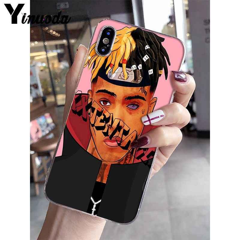 Yinuoda RAP MCing XXXTentacion Âm Nhạc Coque Shell Điện Thoại Trường Hợp đối với Apple iPhone 8 7 6 6 S Cộng Với X XS MAX 5 5 S SE XR Di Động Trường Hợp