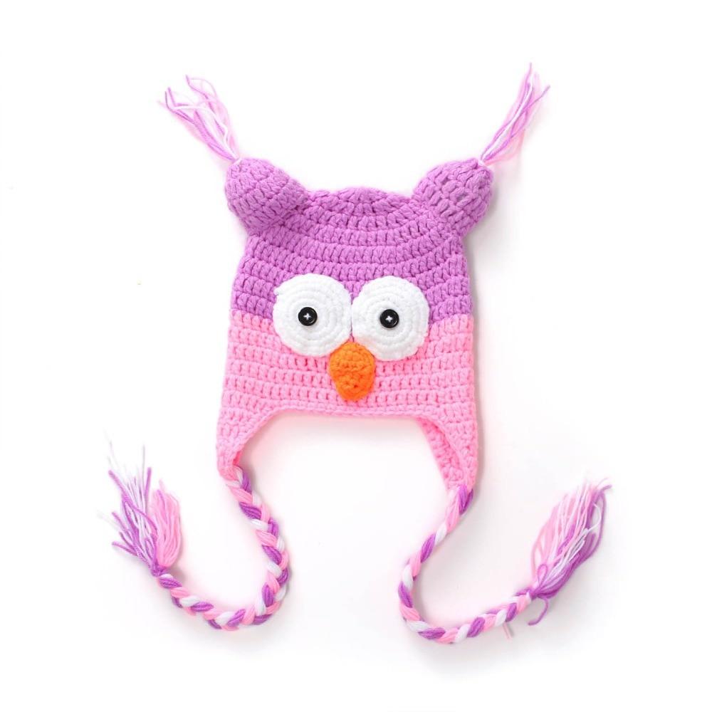 Multicolor Animal del estilo Crochet sombrero del bebé capsula ...
