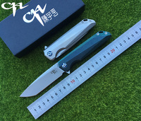 2017 NEW CH3507 Flipper Folding Knife M390 Blade Ball Bearings TC4 Titanium Handle Camping Hunting Pocket