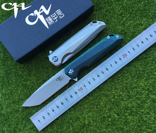 2017 NEW CH3507 Flipper folding knife M390 Blade ball bearings TC4 Titanium handle camping hunting pocket fruit Knives EDC tools