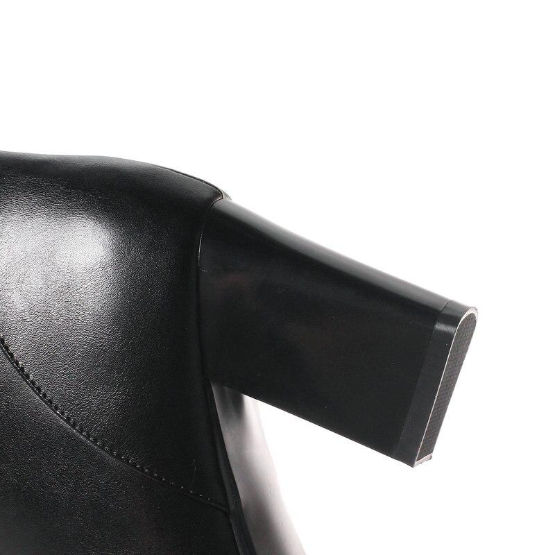 Automne Grande Boucle Robe 7 Chaussures 43 Cm Femme Talons Bottes Taille 42 Élégante Cheville vert Nouveau Noir Haute Femmes Hiver 41 rouge Mather ULpVqjSzMG