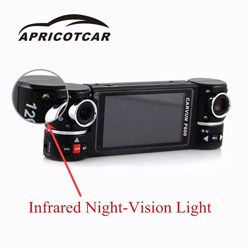 APRICOTCAR 2.7 16:9 TFT LCD Screen 1080P CAR HD DVR Recorder Dash Camera Video Cam Dual Lens Reversing Driving Recorder ...