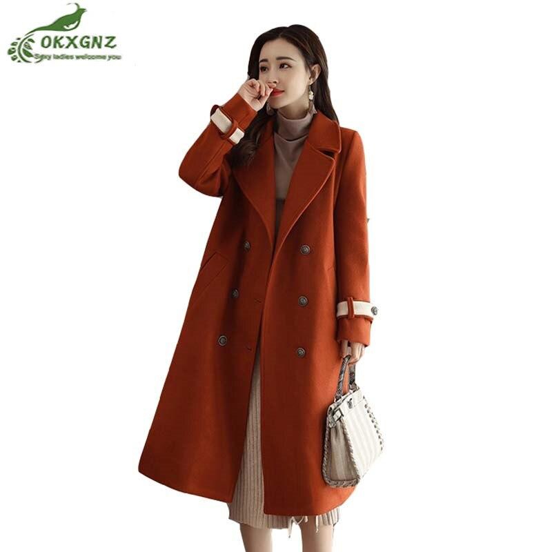Automne Dame Survêtement de laine nouvelle grande taille de mode haut de gamme de laine manteau femelle lâche veste manteau d'hiver femmes OKXGNZ AF193