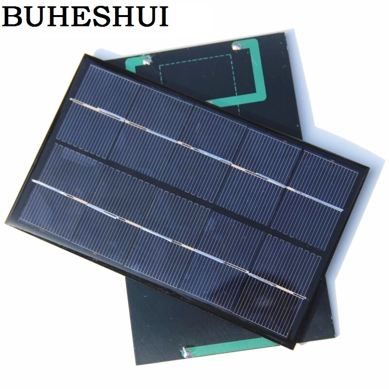 BUHESHUI 1.9W 5V Solar Cell Polycrystalline Solar Panel Solar Module DIY Solar Charger 142*88*3MM 5pcs/lot Free Shipping