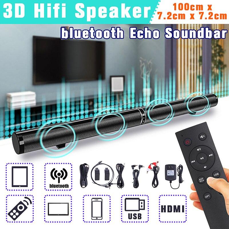 50 W détachable sans fil bluetooth barre de son haut-parleur de basse stéréo barre de son TV Home Theatre Surpport HDMI/optique/RAC/Aux/USB
