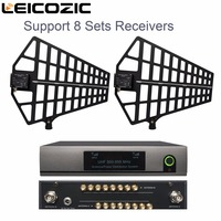 Leicozic 8 Channel Antenna Distribution System /Antenna Splitter support 8 Sets Receivers 500 950Mhz for uhf wireless microphone