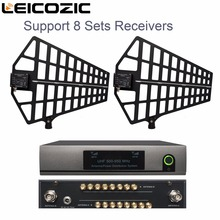 Leicozic 8-канальный антенное распределительное Системы/Антенный разветвитель Поддержка 8 компл. ресиверы 500-950 мГц для uhf беспроводной микрофон