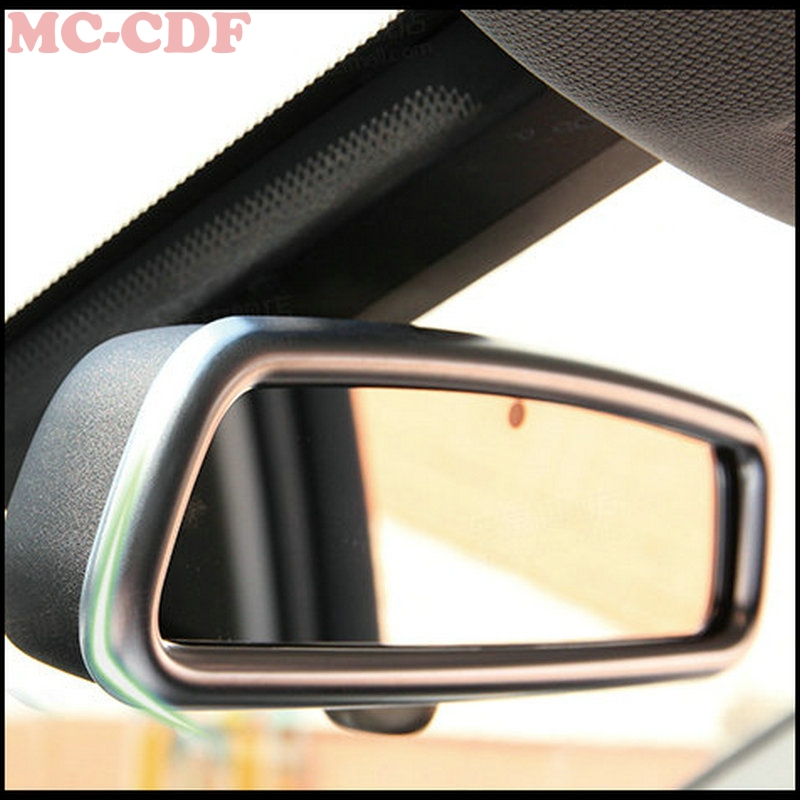 Car styling 1pc For Mercedes Benz C Class W205 C180 C200 C250 C300 ABS Inner Rearview Rear View Mirror Frame Cover Trim Sticker carbon fiber emblem car stickers b column door bumper sticker for mercedes benz c class w205 c180 c200 c300 glc car styling