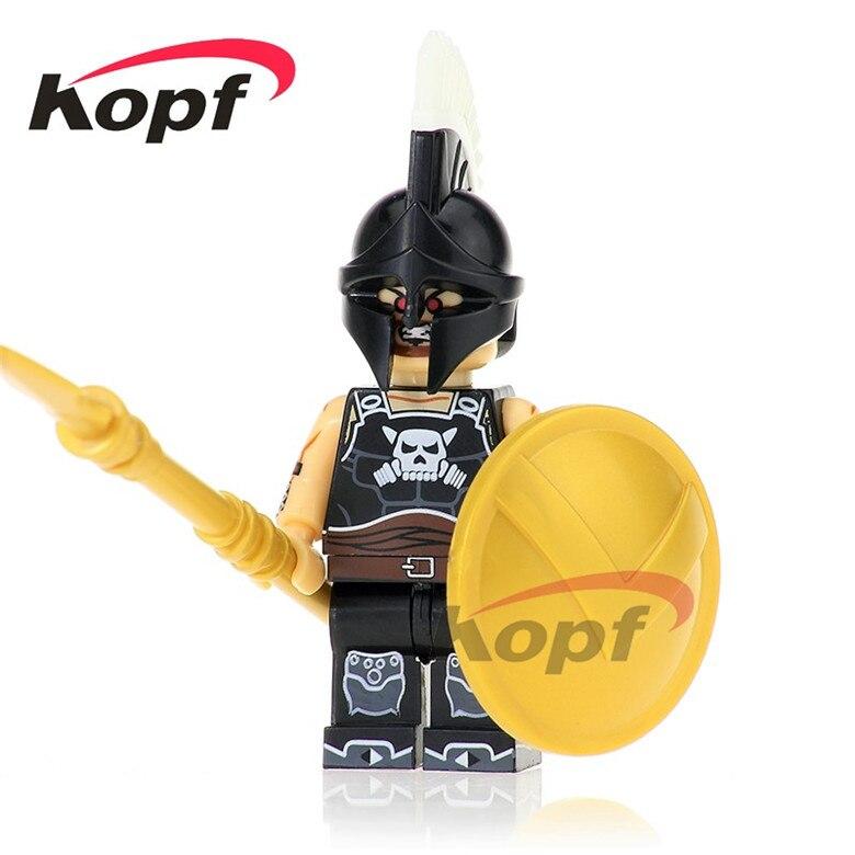20Pcs Building Blocks Super Heroes Ares Saint Seiya Quest Aborigines Hun Warrior Bricks Learning Toys for children Gift XH 639