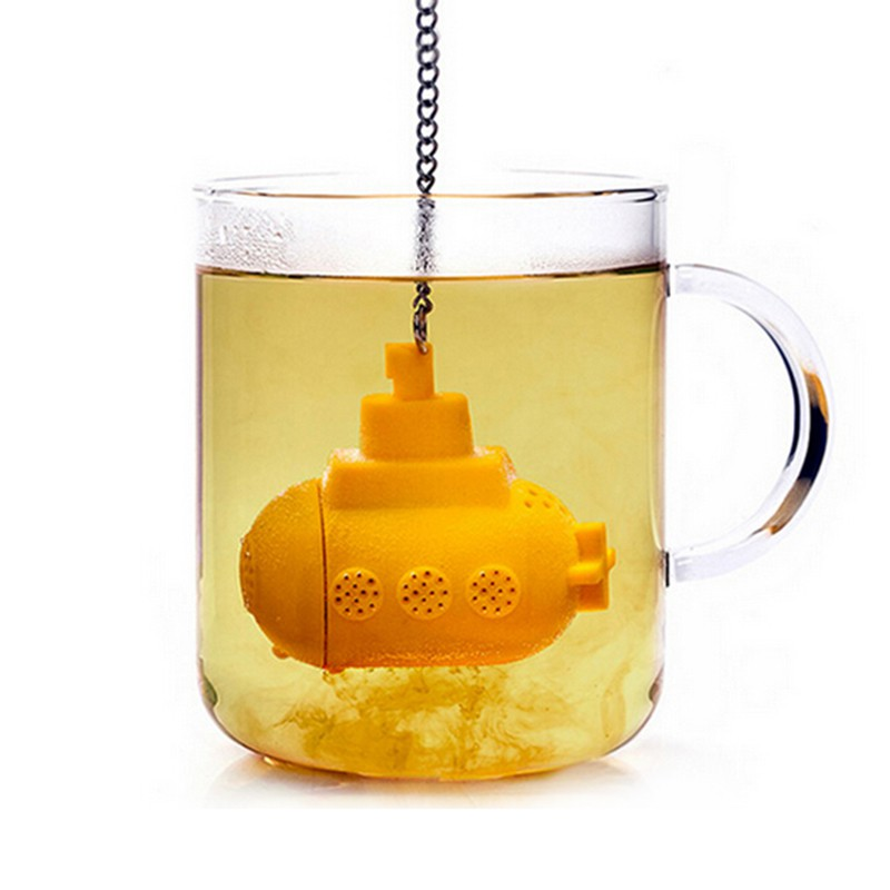 Submarine Infuser Silicone Loose Tea Leaf Strainer Herbal Spice Filter Diffuser