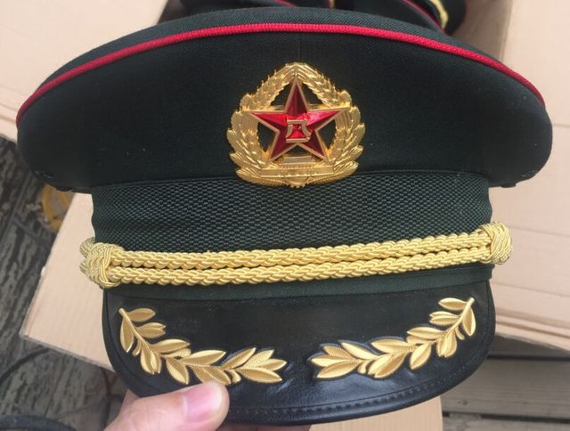 b814422246e China Military Honor Guard Parade Army Visor Cap Used Condition Russia  Officer Medal Coin Navy