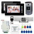 Video Door Phone Doorbell Camera Monitor Electric Strike Lock RFID Keyfobs 1v2
