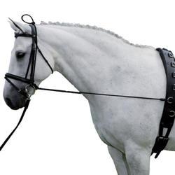 Лошадиные черные носилки для шеи Эластичный конский реин ремень веревка регулируемая с пластиковые застежки конский конный спорт 10 футов