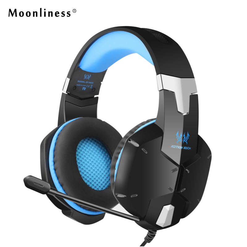 Moonliness Headphone Game EACH 3.5mm Game Headphones Noise Canceling Headband Headphone Play Good Music with Mic for Boy