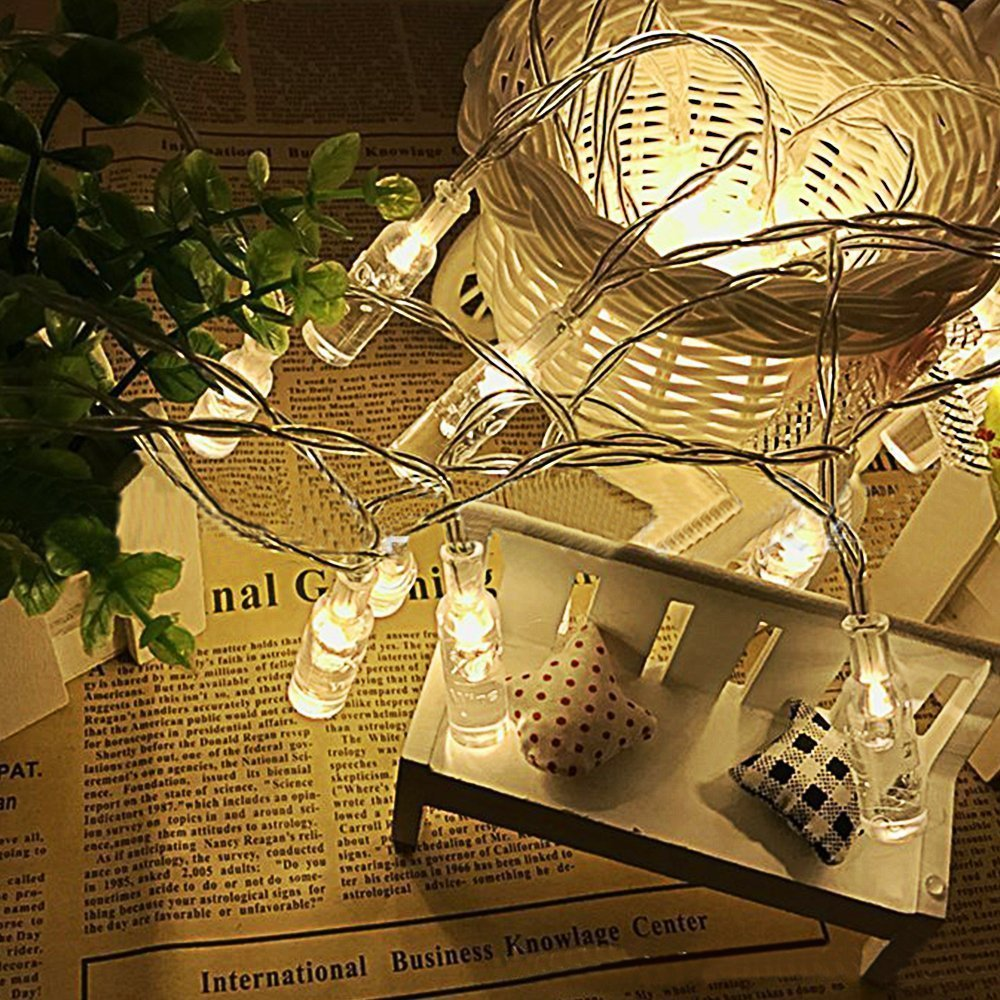 Led String Lights Reject Shop: Wishing Bottle LED String Light 20 LED Indoor Decor Lamp