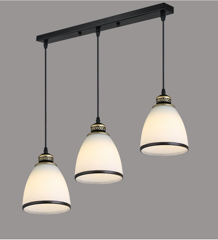 Modern Minimalist Set of 3 Kitchen Island Dining Room Glass Pendant Light (13)