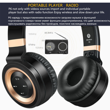 Wireless Bluetooth Headphones with Mic and TF Card