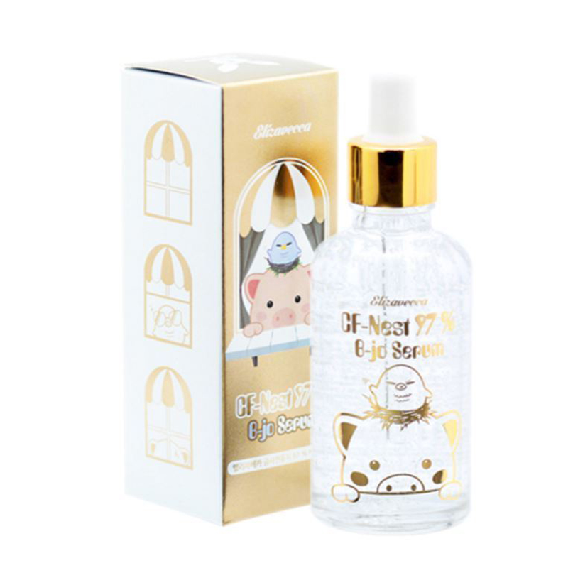 Elizavecca Gold CF-Nest 97% B-Jo Serum 50ml EGF Facial Serum Whitening Moisturizing Cream Sebum Control Wrinkle Improvement