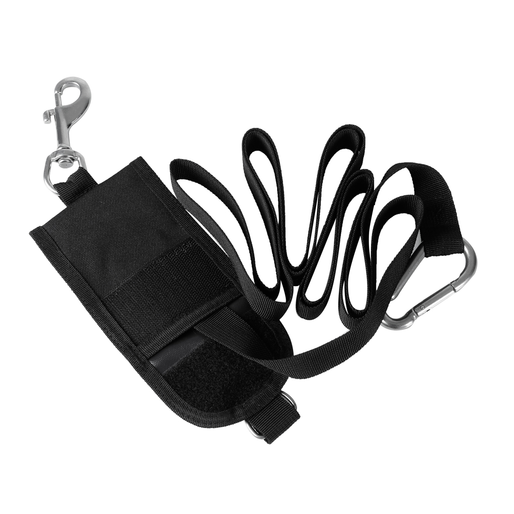 Safety Nylon Heavy Duty Technical Scuba Diving Jon Line with Pouch Clip D Ring Carabiner for Scuba Diving Underwater Equipment line art