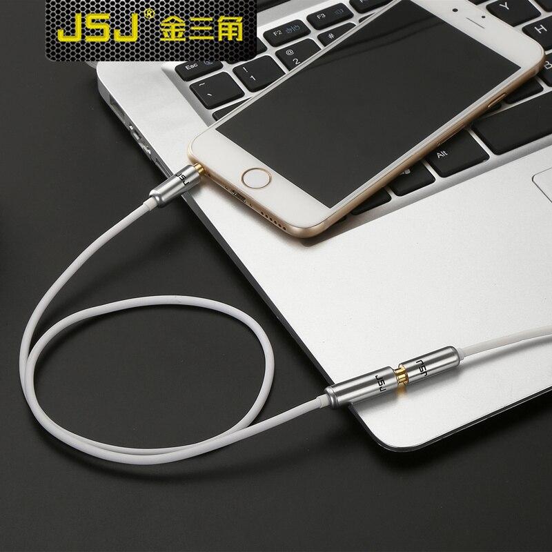 Jsj audio cable extension cable car aux 3.5mm lengthen line mobile phone headphones