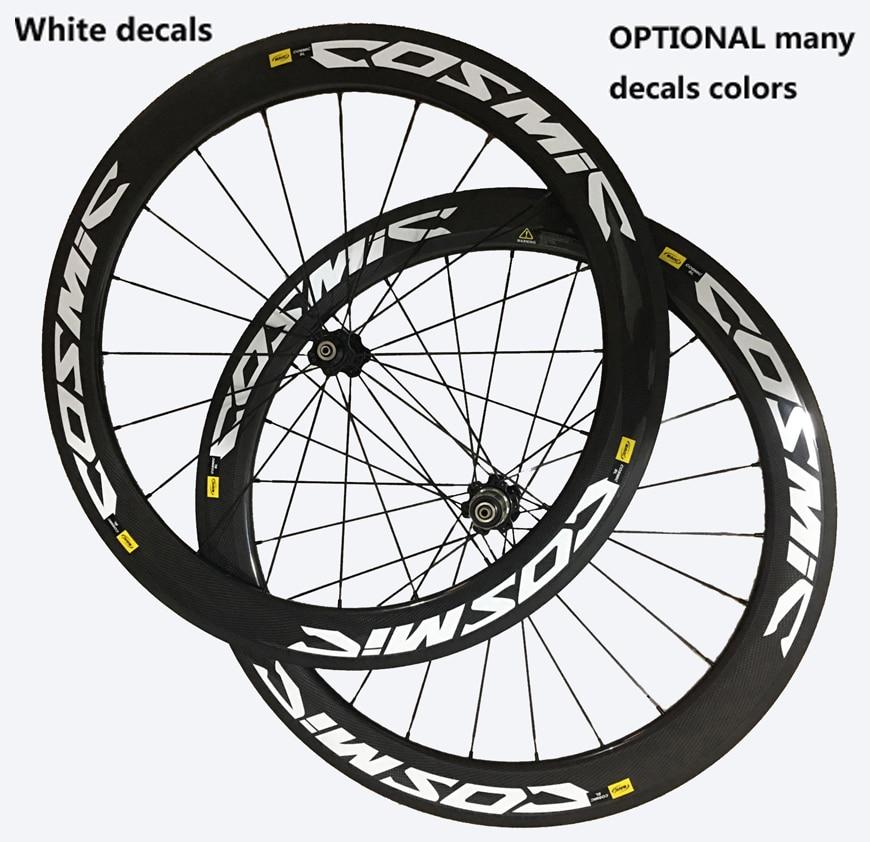 COSMIC decal carbon wheel 38 50 60 88mm 23/25W Clincher/Tubular NOVATEC/POWERWAY R36 hub 700C bike wheelset carbon bicycle wheel