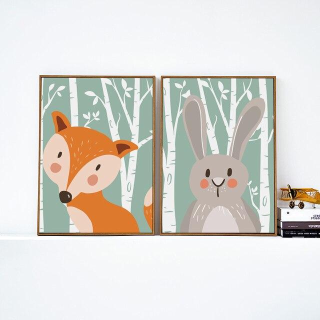 Elegante Poesie Niedlichen Cartoon Tiere Fuchs Kaninchen Bär A4 ...